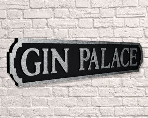 Gin Palace Black and Silver Glitter